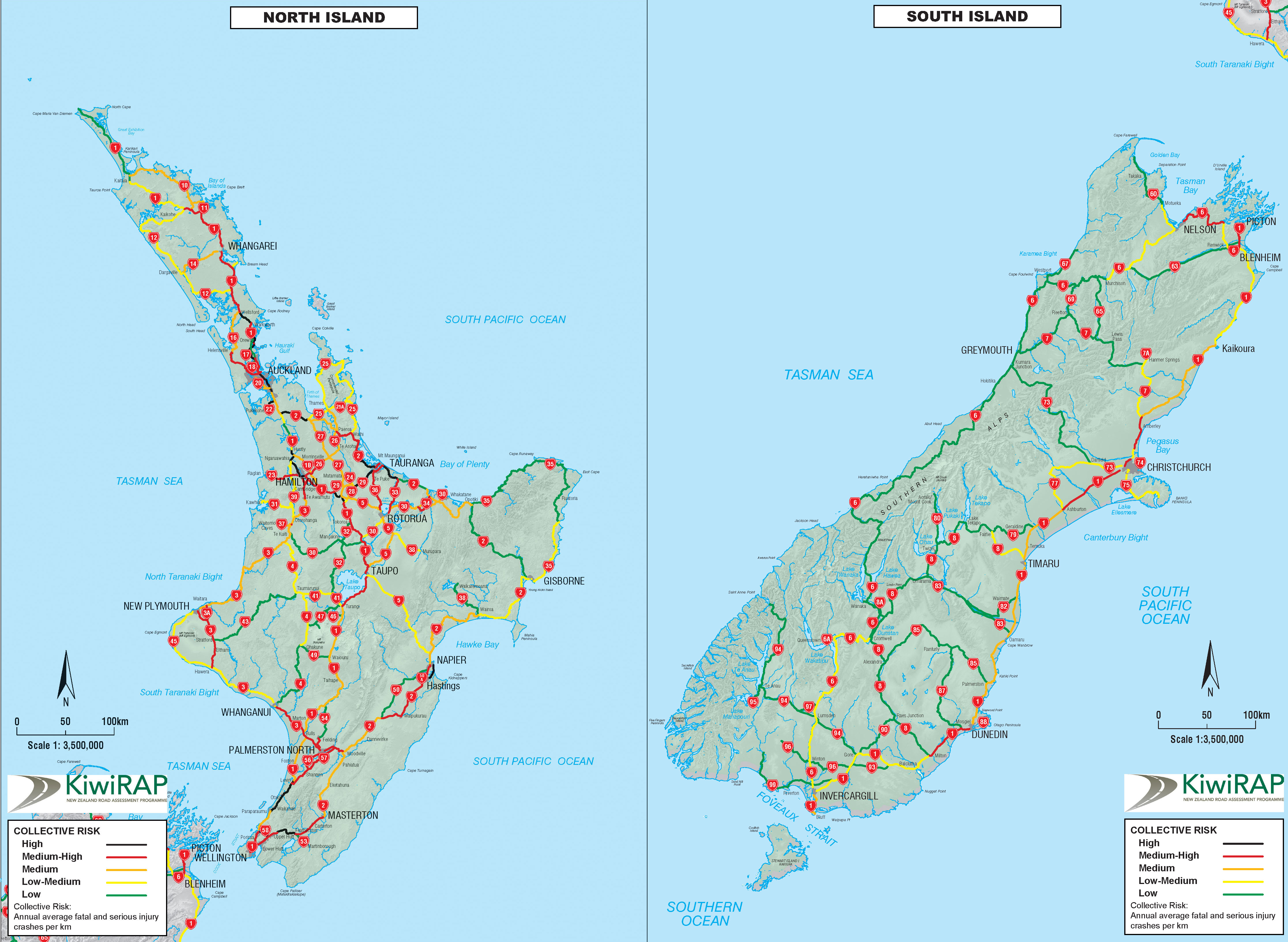 New Zealand Driving Map.Download Risk Maps Star Rating And Performance Tracking Reports